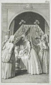 "Daniel Nikolaus Chodowiecki's illustration for Richardson's ""Clarissa"""