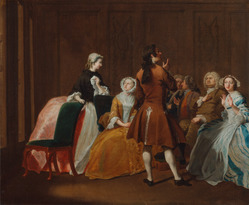 "Joseph Highmore's painting ""The Harlowe Family"" from Richardson's ""Clarissa"""