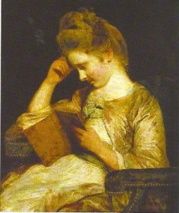 Joshua Reynald's painting Theophilia Palmer Reading Clarissa