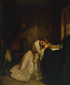 Clarissa Harlowe in the Prison Room of the Sheriff's Office exhibited 1833 Charles Landseer 1799-1879 Presented by Robert Vernon 1847 http://www.tate.org.uk/art/work/N00408