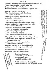 Image of Paper X, including text positioned at various angles on the page
